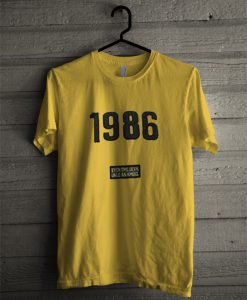1986 yellow tshirt