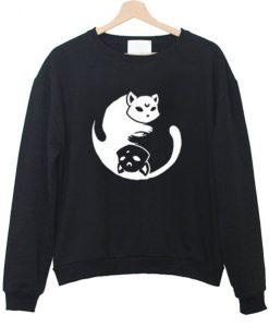yin yang cat sweatshirt