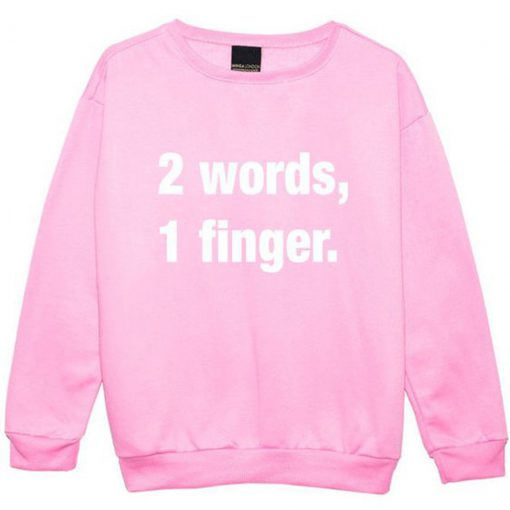 2-Words-1-Finger-Pink-Sweat