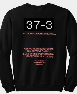 37-3 Boom Sweatshirt back
