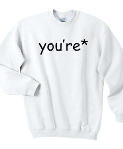 You're Grammar Correction Sweatshirt