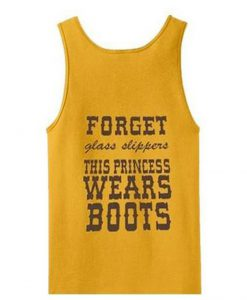 forget glass slippers this princess wears boots tanktop