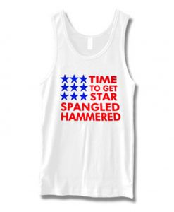 time to get star spangled hammered tanktop