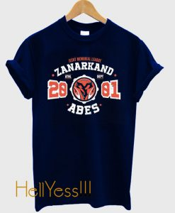 Zanarkand Abes Athletic Shirt Distressed T-Shirt