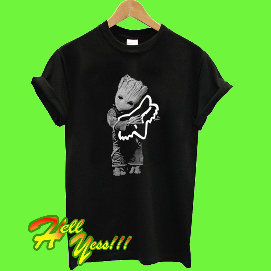 8721c0d3d7d Baby Groot hug Fox Racing T Shirt