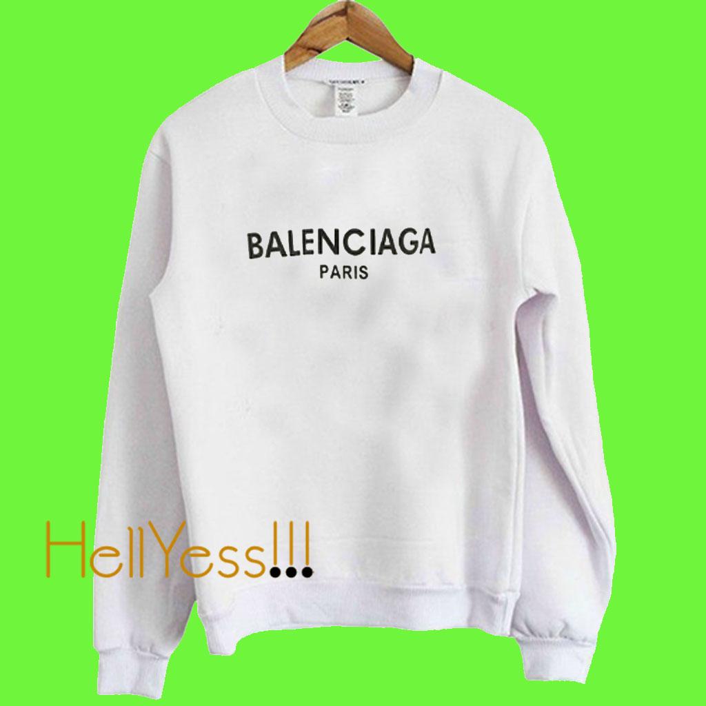 e9f27648c25bf balenciaga paris white sweatshirt