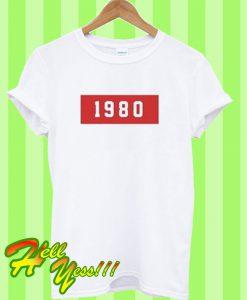 1980 Font T Shirt