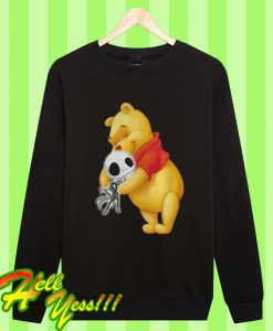 Winnie The Pooh Hugging Jack Skellington Sweatshirt