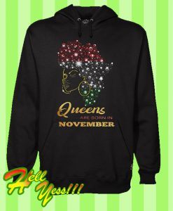Afro Black Queens Are Born In November Birthday Hoodie