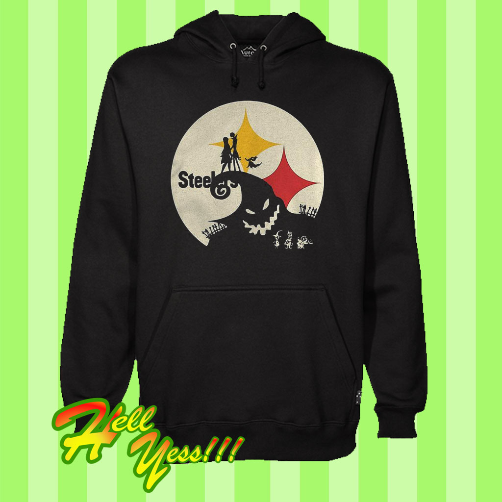 super popular 6bfdb a11e4 Original Jack Skellington And Sally Pittsburgh Steelers Hoodie