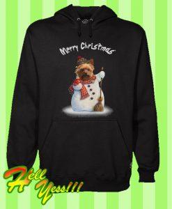 Yorkshire Terrier Mery Christmas Hoodie