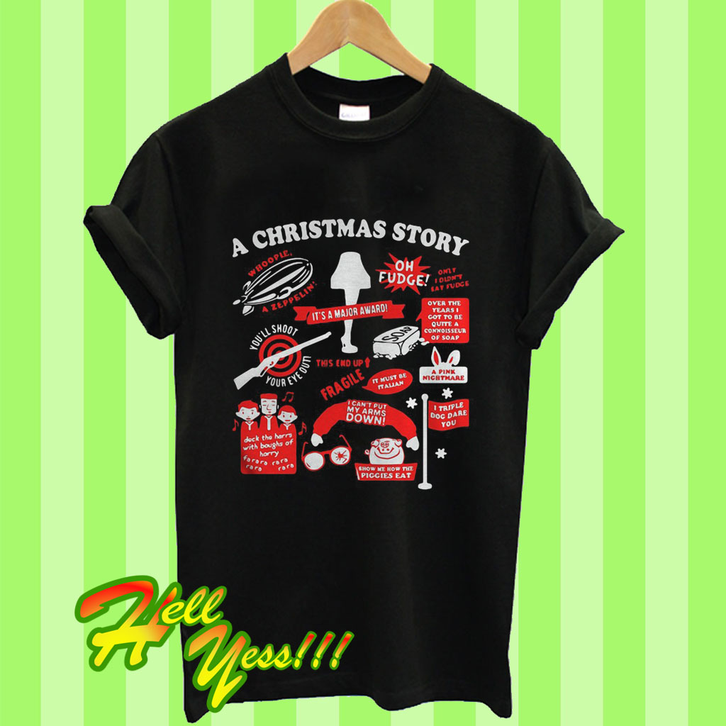 Christmas Story Shirts.Movies For A Family Holiday Road A Christmas Story T Shirt