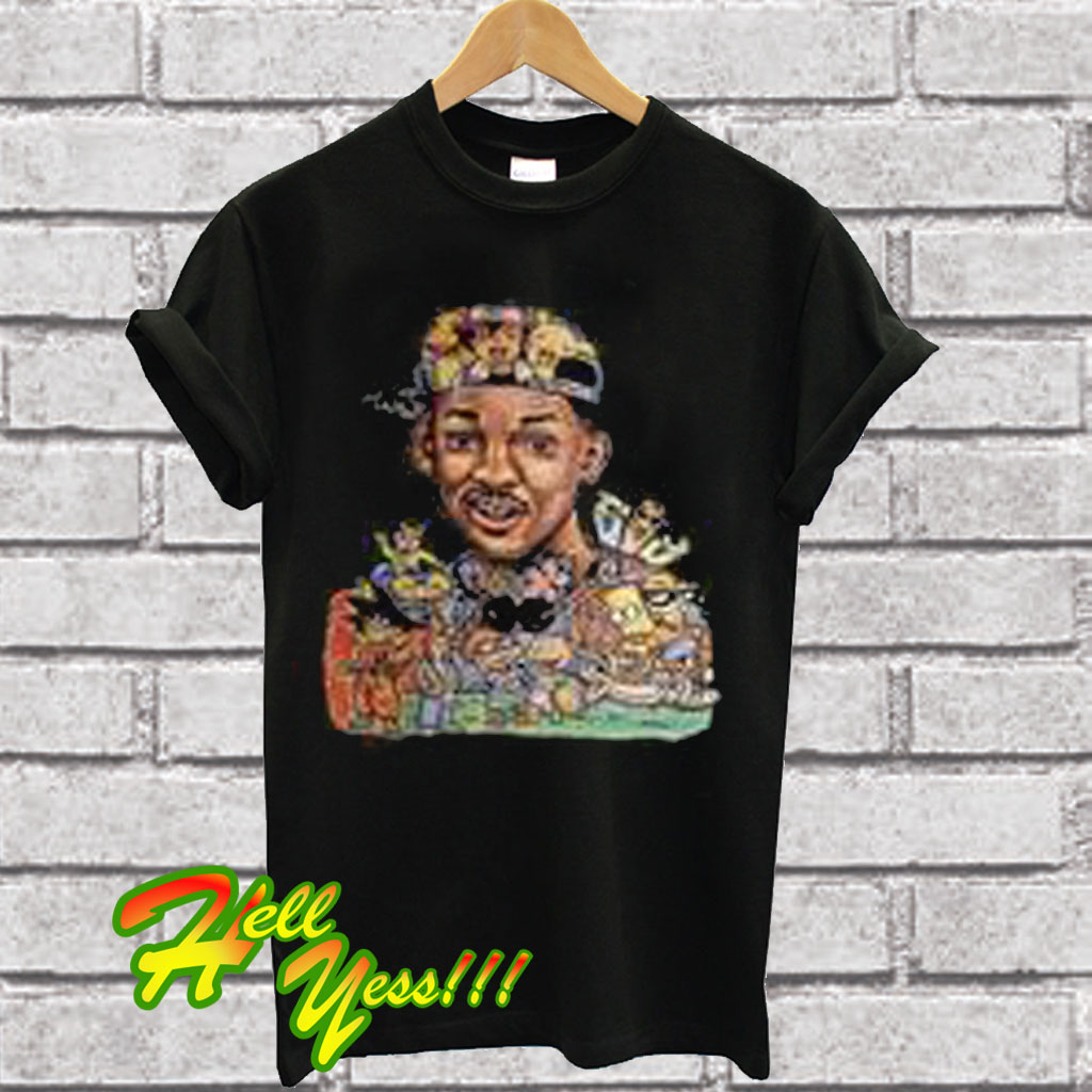 7c5f7025ea6ec3 Will Smith Rocket Power Simpson Dragon Ball T Shirt