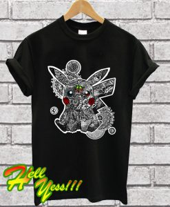 Zentangle Pikachu T Shirt