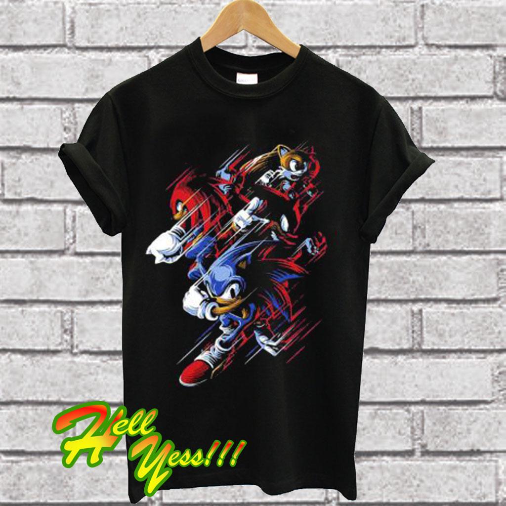 Sega Boys Sonic The Hedgehog T Shirt