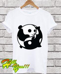 Yin and Yang Panda and Orca T Shirt