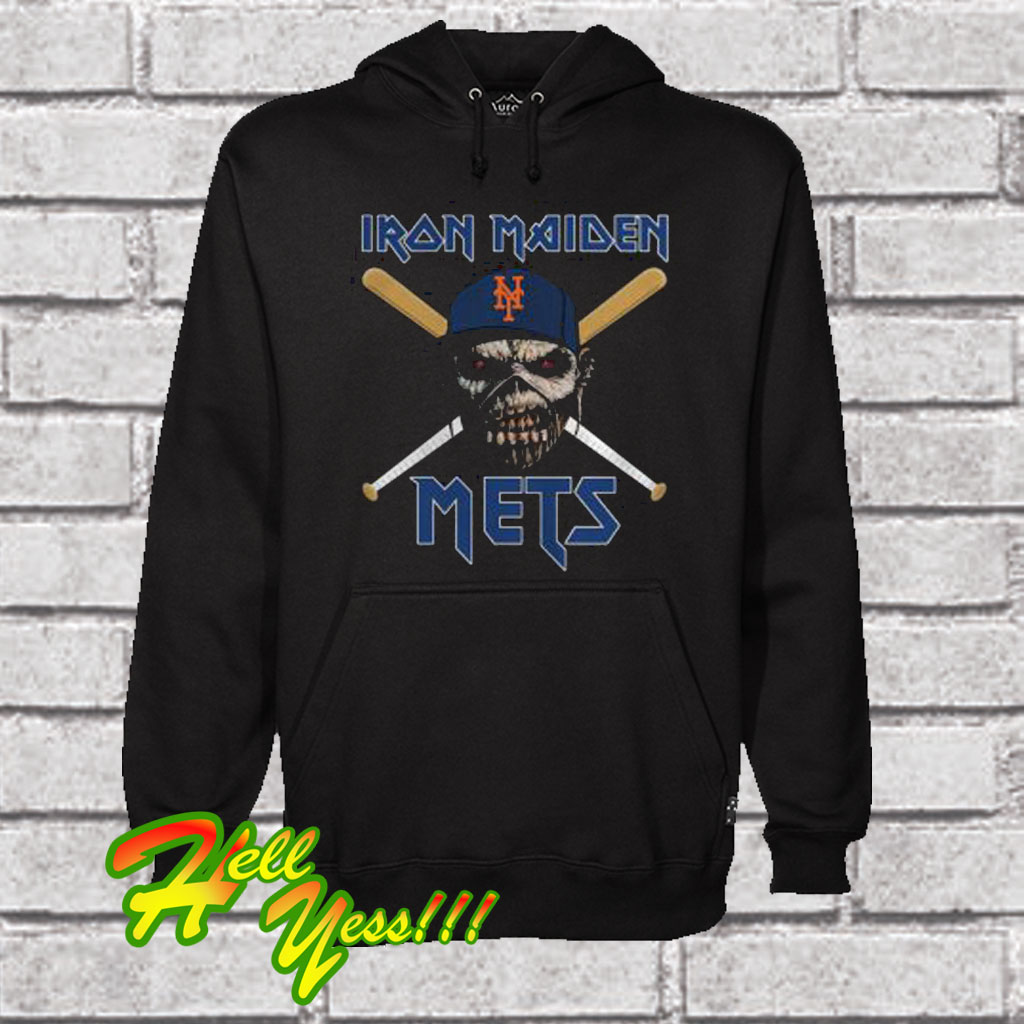 new arrival 4b4ad 29e9b Iron Maiden New York Mets Hoodie