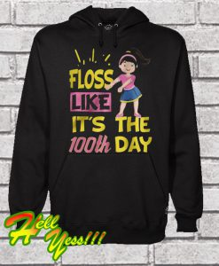 100 Days Of School Girl Floss Dance Hoodie