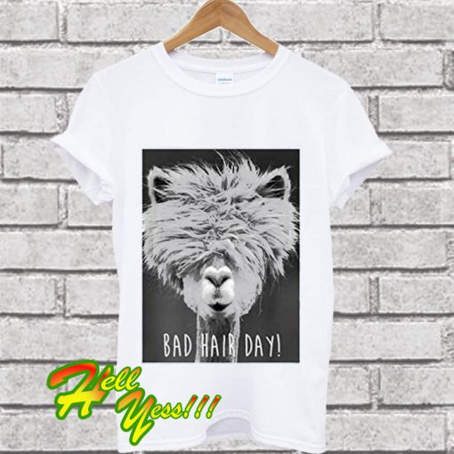Bad Hair Day Llama Lama T Shirt