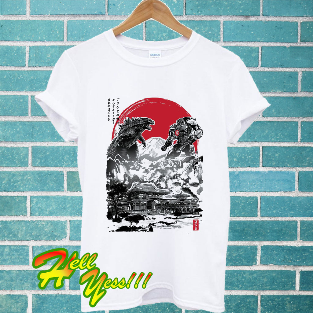 b3d96aad Battle Of The Ages - Gipsy Danger And Godzilla T Shirt
