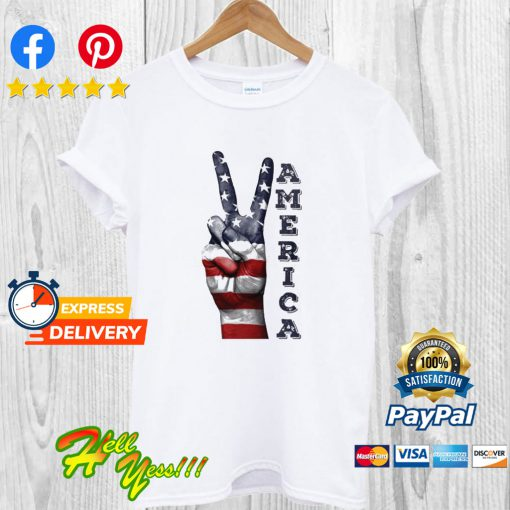 America Flag Free Finger T Shirt