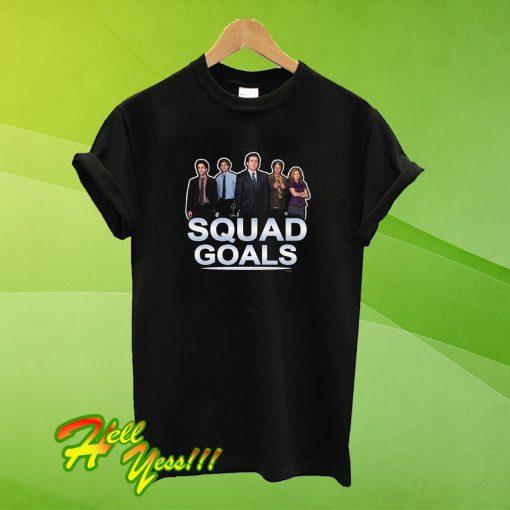 The Office Squad Goals Black T Shirt