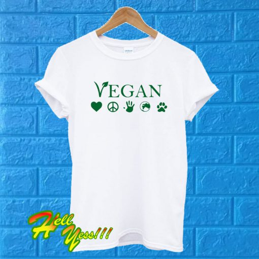 Vegan Vegetarian White T Shirt