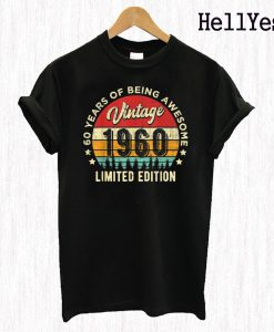 1960 60 Years Old Awesome 60th T Shirt