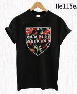 Vampire Weekend Shield Roses T Shirt
