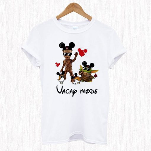 Mickey Mouse Baby Yoda And Baby Groot Vacay T Shirt